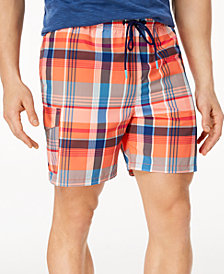 Tommy Bahama Men's Naples Riviera Madras Classic-Fit Plaid Twill 6'' Swim Trunks