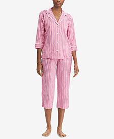 Lauren Ralph Lauren Classic Woven Capri Pajama Set
