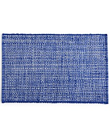 Martha Stewart Collection Blue Woven Cotton Placemat, Created for Macy's