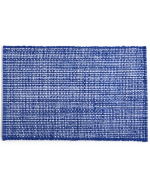Closeout! Martha Stewart Collection Blue Woven Cotton Placemat, Created for Macy's