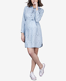 Seraphine Maternity Chambray Shirtdress