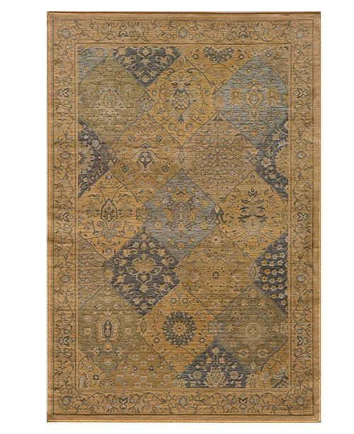 "Momeni CLOSEOUT! Area Rug, Belmont  BE-01 Blue 5' 3"" X 7' 6"""