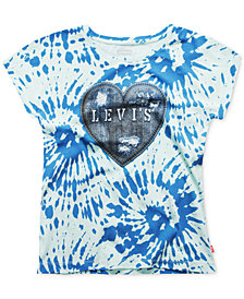 Levi's® Tie-Dyed Denim-Effect Cotton T-Shirt, Big Girls