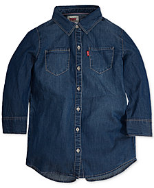 Levi's® Western Shirt, Big Girls