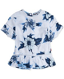 Levi's® Floral-Print Peplum Top, Big Girls