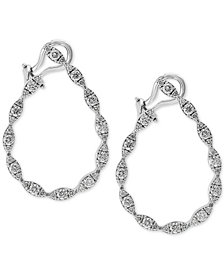 EFFY® Diamond Drop Earrings (1-5/8 ct. t.w.) in 14k White Gold