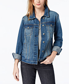 Silver Jeans Co. Juniors' Sinclair Denim Jacket, Created for Macy's