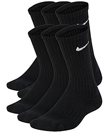 6-Pk. Cushioned Crew Socks, Big Boys