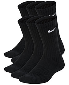 Nike 6-Pk. Cushioned Crew Socks, Big Boys