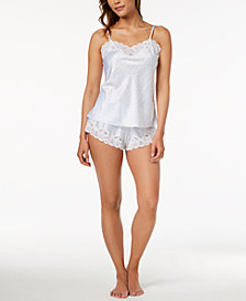 Lauren Ralph Lauren Signature Satins Lace-Trim Pajama Set