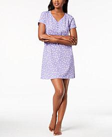 Charter Club Picot-Trim Cotton Sleepshirt, Created for Macy's