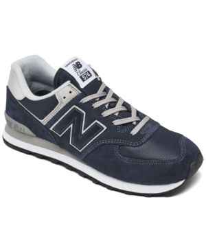 New Balance Men's Classic 574 Evergreen Suede Lace Up Sneakers