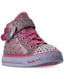Skechers Toddler Girls' Twinkle Toes: Shuffles - Cutie Kicks Light-Up High Top Casual Sneakers from Finish Line