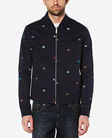 Original Penguin Men's Reversible Embroidered Bomber Jacket, Created for Macy's
