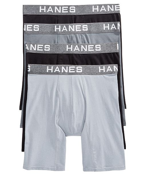 730adc53cbd3 Hanes Men's 4-Pk. Platinum Comfort Flex Fit® Boxer Briefs & Reviews ...