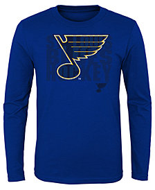 Outerstuff St. Louis Blues Logo Matrix Long Sleeve T-Shirt, Big Boys (8-20)