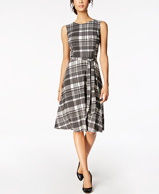 Petite Plaid Midi Dress, Created For Macy's by Charter Club