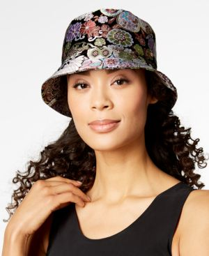 MULTICOLOR BROCADE BUCKET HAT