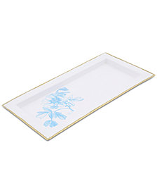CLOSEOUT! Thirstystone White Enamel Tray with Peony Design