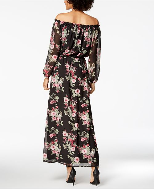 Manchester Cheap Price Cheap Price Off Shoulder Maxi Nine West PC4g8