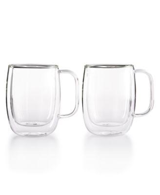 Zwilling Sorrento Double Wall Coffee Mugs, Set of 2