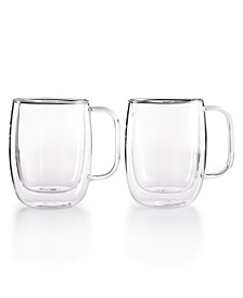 Zwilling Sorrento Double Wall Coffee Mugs, Set of 2