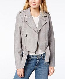 Levi's® Cropped Faux-Suede Moto Jacket