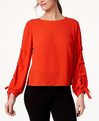 Vince Camuto Tiered-Sleeve Boat-Neck Top