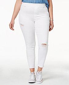 HUE® Women's  Plus Size Original Denim Ripped Knee , Created for Macy's