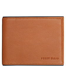 Perry Ellis Men's Portfolio Bifold Leather Wallet
