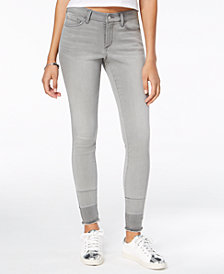 Black Daisy Juniors' Billie Released-Hem Skinny Jeans