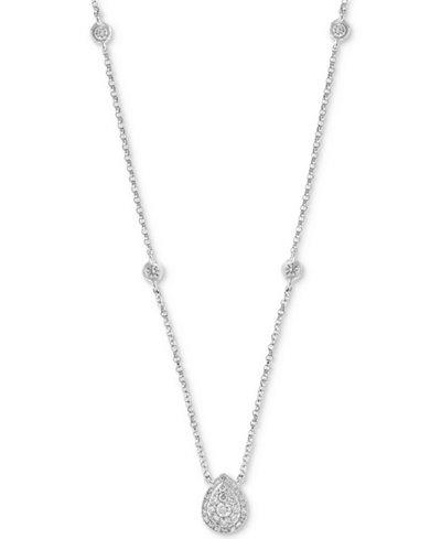 Diamond Bezel & Teardrop Cluster 18