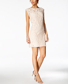 Vince Camuto Lace Illusion Sheath Dress