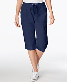 Calvin Klein Performance Poplin Convertible Capri Cargo Pants