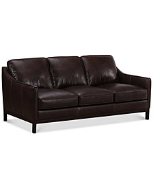 "CLOSEOUT! Benita 81"" Leather Sofa, Created for Macy's"