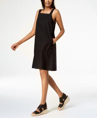 Organic Cotton Square-Neck Dress, Regular & Petite
