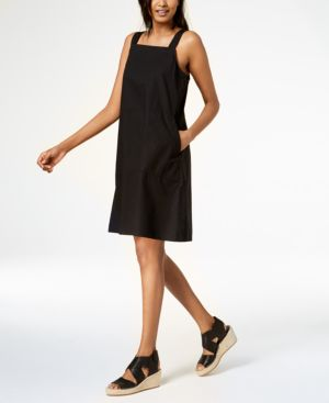 Eileen Fisher Organic Cotton Square-Neck Dress, Regular & Petite 5745631
