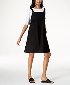 Eileen Fisher Organic Cotton T-Shirt & Organic Cotton Square-Neck Dress, Regular & Petite