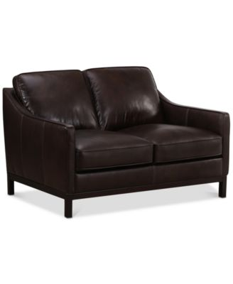 "CLOSEOUT! Benita 56"" Leather Loveseat, Created For Macy's"