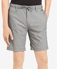 "Calvin Klein Men's Classic-Fit Stretch Windowpane Seersucker 9"" Shorts"