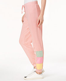 Hippie Rose Juniors' Colorblocked Jogger Pants