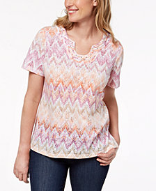 Alfred Dunner Petite Los Cabos Printed T-Shirt