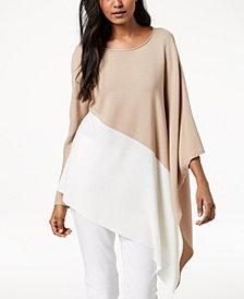 Eileen Fisher Tencel® Colorblocked Asymmetrical Sweater