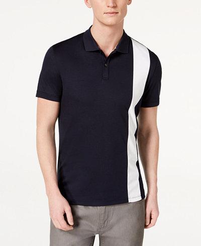 Calvin Klein Men's Liquid Touch Vertical Striped Polo