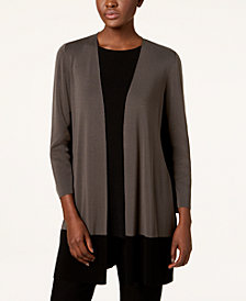 Eileen Fisher Tencel® Colorblocked Open-Front Cardigan