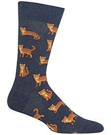 Men's Socks, Cat
