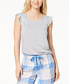 Jenni By Jennifer Moore Ruffle Cap Sleeve Tee, Created for Macy's