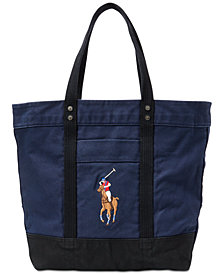 Polo Ralph Lauren Men's Canvas Big Pony Tote Bag