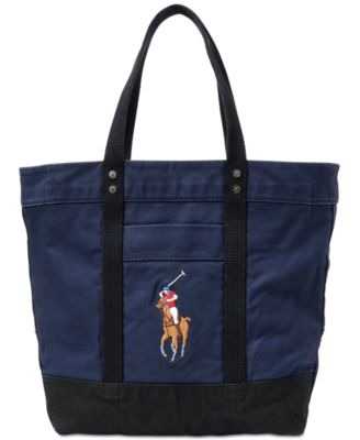 Polo Ralph Lauren. Men\u0027s Canvas Big Pony Tote Bag. Be the first to Write a  Review. main image; main image ...