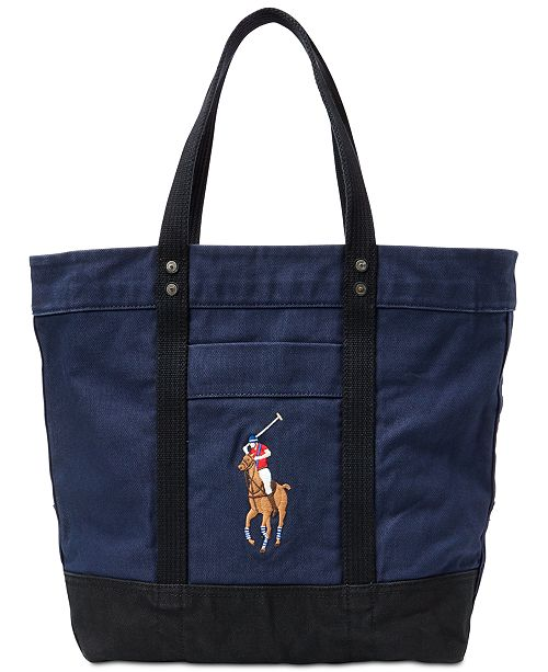 Polo Ralph Lauren Men s Canvas Big Pony Tote Bag   Reviews - All ... ab0ab9f984cca